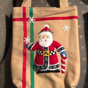 Handbags - Felt Appliqué Santa Gift Bag